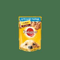 Pedigree,влажный корм для собак с курицей в соусе,85гр.