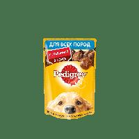 Pedigree,влажный корм для собак с говядиной в соусе,85 гр.
