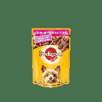 Pedigree,влажный корм для взрослых собак мелких пород с ягненком и овощами в соусе,85гр.