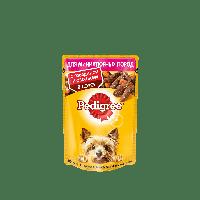 Pedigree,влажный корм для собак мелких пород с говядиной и овощами в соусе,85гр.