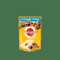 Pedigree,влажный корм для собак с телятиной и печенью в желе,85гр.