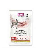 Pro Plan vet Feline DM Diabetes Management pouch,диетический корм при сахарном диабете у кошек,85 гр.