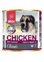Blitz Classic Влажный корм «Курица с овсянкой» 750 гр.