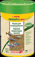 Sera ImmunPro Mini Nature,корм для выращивания всех декоративных рыб до 4 см,уп.25 гр.