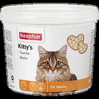 Beaphar Kitty's Taurine+Biotine,витамины для кошек с таурином и биотином,75 таблеток