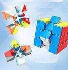 Профессиональный Кубик Рубика 3 на 3 MoYu Meilong в цветном пластике, фото 4