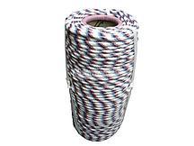 Фал плетённый полипр. 16-прядный 8мм, 520 кгс Россия