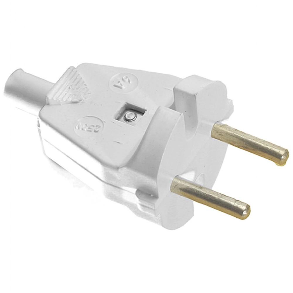 Вилка электрическая В6-001 белая БелТиЗ