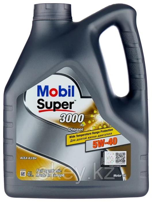 Моторное масло Mobil Super 3000 X1 Diesel 5W-40, 4л. 152572