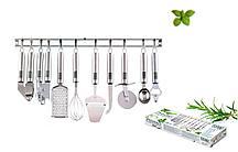 "Набор кухонных предметов на планке, 10 предметов ""Provence""."