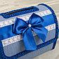 Коробка для денег №1, синяя, разборная, фото 5