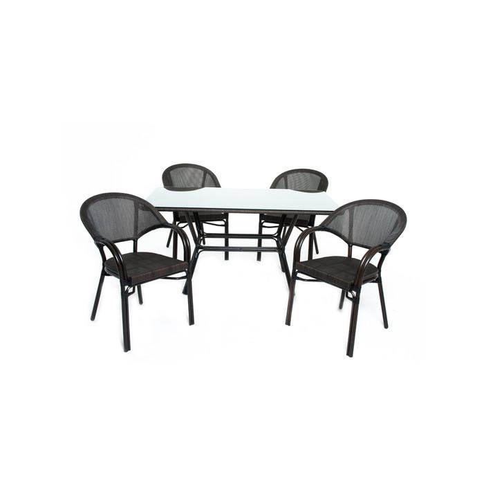 Комплект для отдыха: стол, 4 стула,  DS-02-01-02