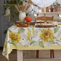 Скатерть 'Этель' Солнечные цветы 220х147 см, 100 хлопок, саржа 190 г/м2