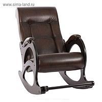 Кресло-качалка Модель 44 Без лозы/Венге/Антик Крокодил