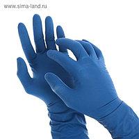Перчатки A.D.M. латексные неопудренные, размер S, 50 шт/уп, цвет синий
