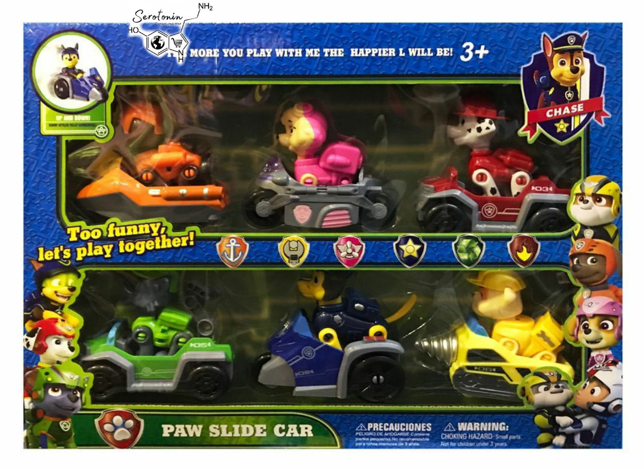 Paw Patrol -Набор из 6 щенков с машинками