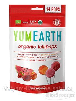 Органические фруктовые леденцы на палочке 4 вкусов ,85 гр