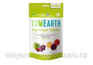 Органические фруктовые леденцы с кислинкой, 14 шт
