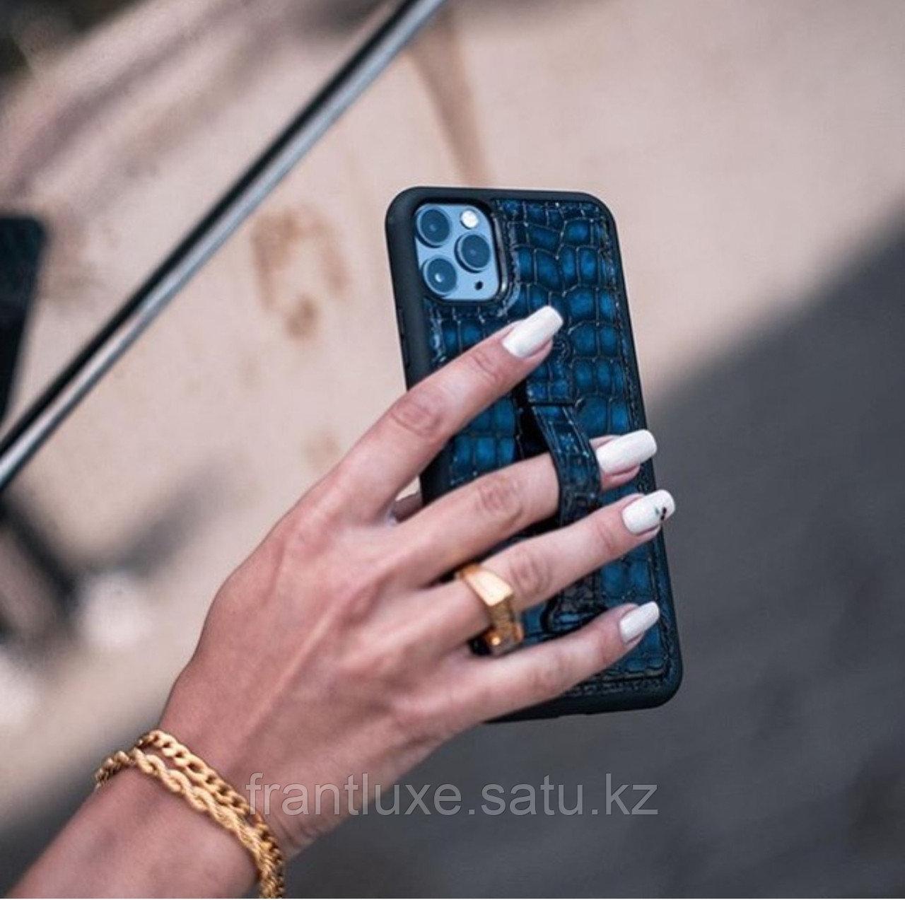 Чехол для телефона iPhone 11 Pro Max Finger-holder Blue - фото 8