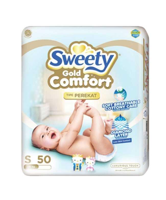 Подгузники SWEETY Comfort Gold S (3-6кг) 50 штук