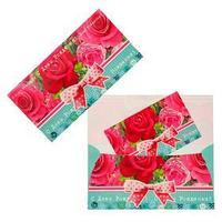 Конверт для денег 'С Днем Рождения!' розы и бант, УФ лак (комплект из 10 шт.)