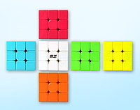 Профессиональный Кубик Рубика 3 на 3 Qiyi Cube в цветном пластике. Оригинал
