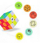 Профессиональный Кубик Рубика 3 на 3 Qiyi Cube в цветном пластике. Оригинал, фото 6