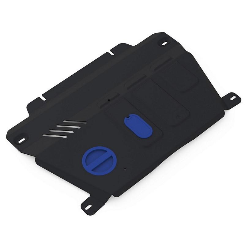 Защита картера + КПП + комплект крепежа, RIVAL, Алюминий, Chevrolet Captiva 2012-2015, V - 2.2d; 2.4