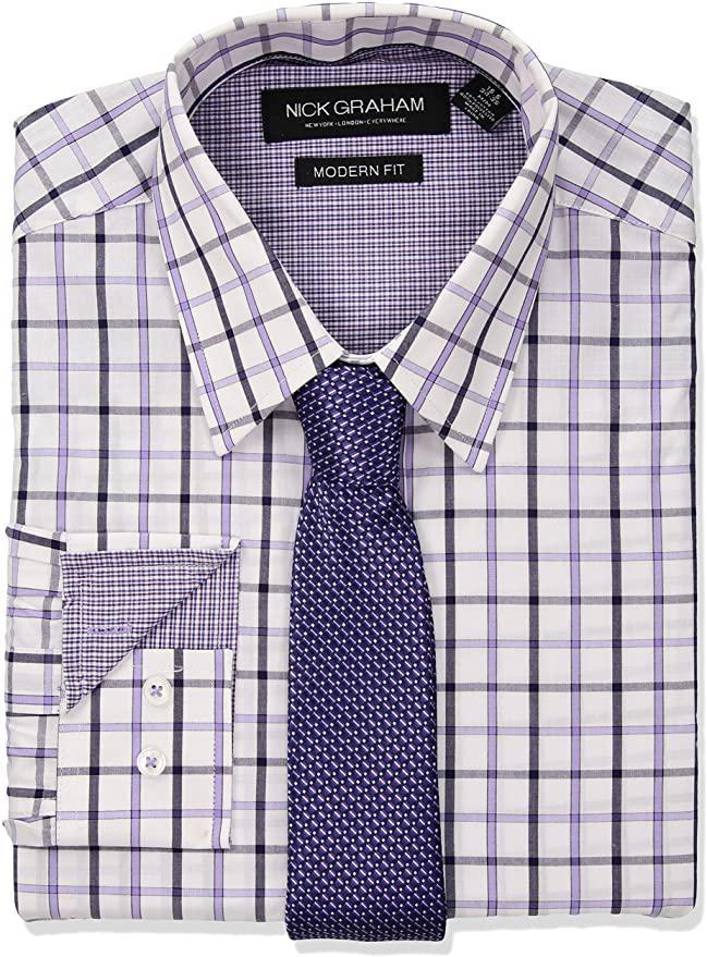 Nick Graham Мужская рубашка с галстуком - Е2