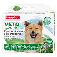 Биокапли VETO pure - от паразитов для средних собак 3 шт