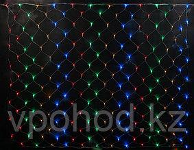 Гирлянда сеть разноцветная  1,5*1,5м