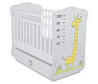 Кроватка детская СКВ-4 Жираф с ростомером маятник фотопечать Жирафа