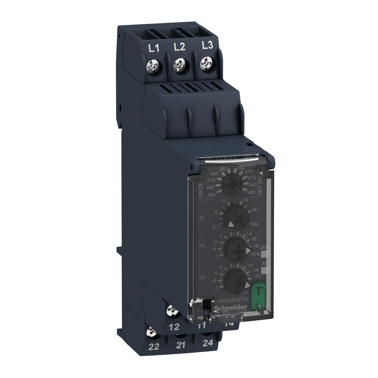 Реле контроля чередования обр. фаз, пон., пов.напр. /RM22TR33/