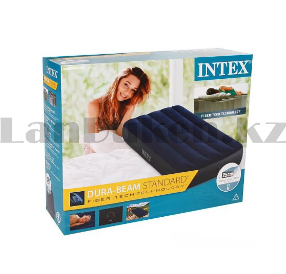 Надувной матрас одноместный Intex 64756 (76х191х25 см) - фото 5