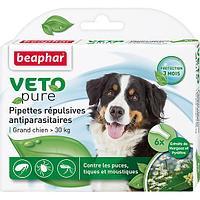 Биокапли VETO pure - от паразитов для крупных собак 6 шт
