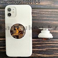 Держатель для смартфона PopSocket коллекция LouisVuitton оранжевый