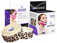 Кинезио тейп для лица, BBTape Face Pack, 2.5 см х 10 м Леопард