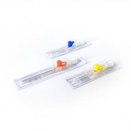 Катетер/канюля внутривенный периферический Bioflokage Budget р.24G c инъекционным клапаном