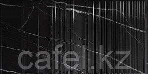 Кафель | Плитка настенная 30х60 Орлеан | Orlean черный рельеф