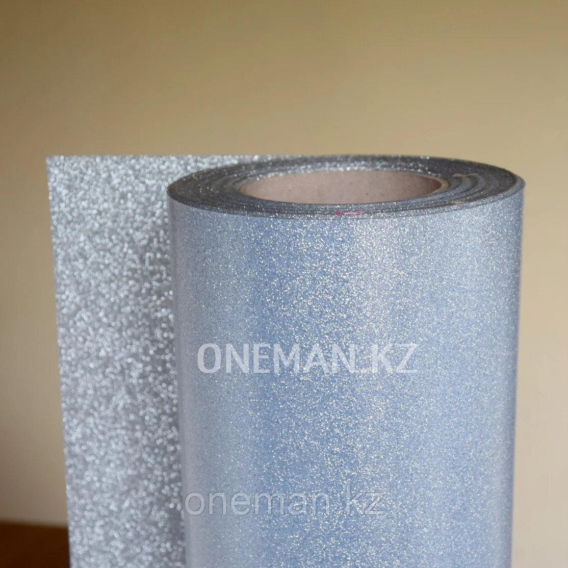 Флекс пленка глиттер серебро (OSG Glitter Silver)