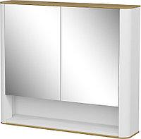 Шкаф навесной: 2 двери зеркальных и ниша