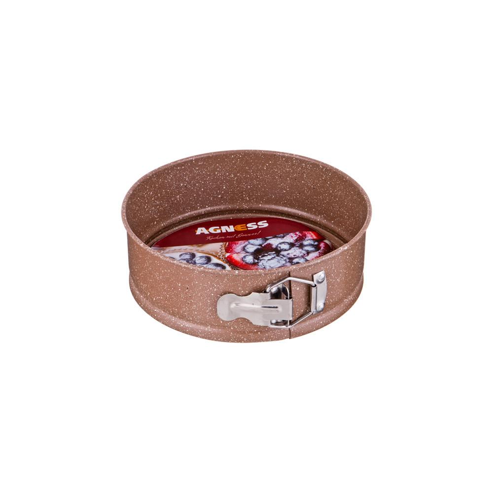 Форма для выпечки разъемная Agness с антипригарным покрытием 20 см