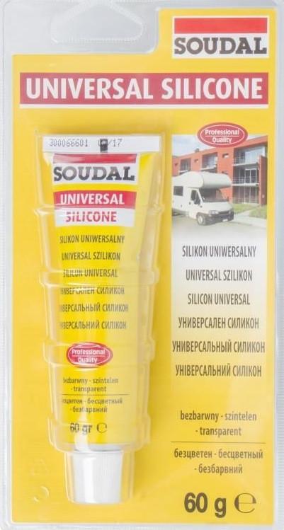 Соудал универсальный санитарный силикон бесцветный 12*60 гр с фунгицидом