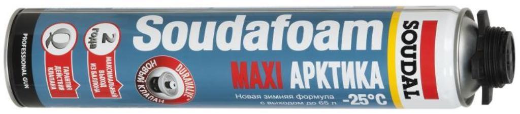 Соудафоам Макси зимняя пистолетная пена Арктик -25 12*870 мл от - 25°С до +35°