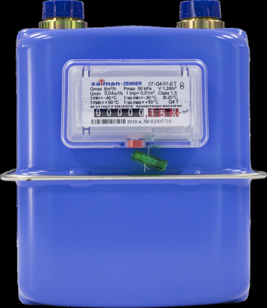 Счетчик газа объемный диафрагменный СГ-G4-01Д Т (резьба 1 1/4)