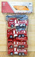 2211 Пожарная техника 4шт в пакете, City rescue  30*17см