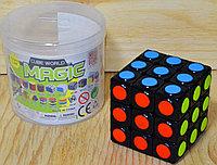 120 Кубик Рубика 3*3, в колбе копилка, cube world magic 6*6см