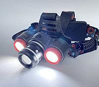 Налобный фонарь 50000W / 2 аккум., USB