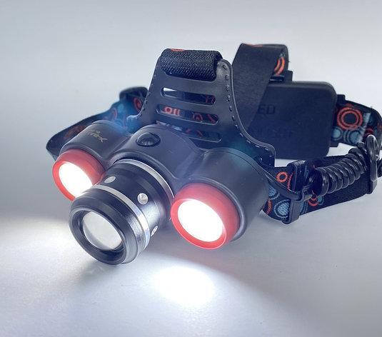Налобный фонарь 50000W / 2 аккум., USB, фото 2