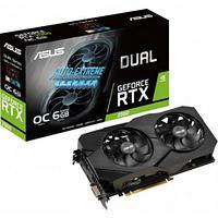 Видеокарта ASUS GeForce RTX2060 6GB GDDR6 192-bit 14000MHz DVI-D, 2xHDMI, DP, DUAL-RTX2060-O6G-EVO